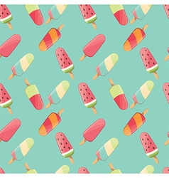 Ice cream seamless pattern summer background vector image