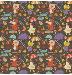 Joyful autumn pattern vector image vector image
