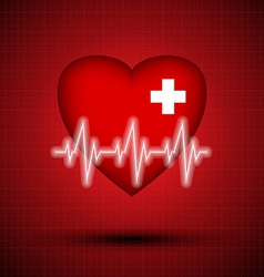 Medical design - heart cardiogram vector image