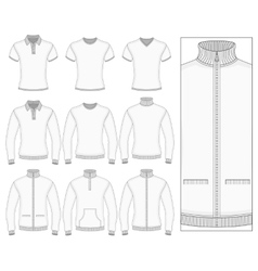 Mens short and long sleeve clothes vector image vector image