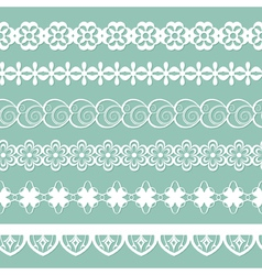 set of paper laces vector image