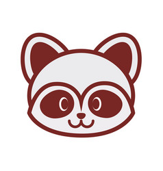 cute raccoon face image vector image