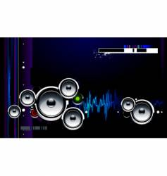 speakers futuristic vector image vector image