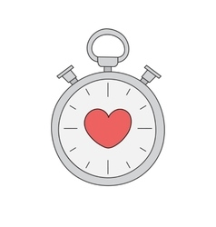 Time for love vector image
