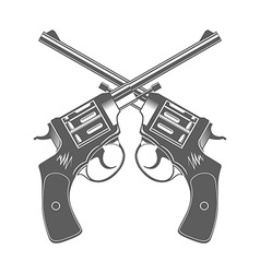Crossed Guns Isolated Design Elements vector image vector image