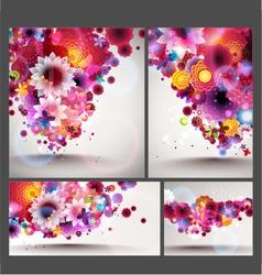 flower spring background set vector image
