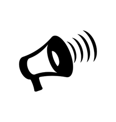 megaphone icon on white background vector image