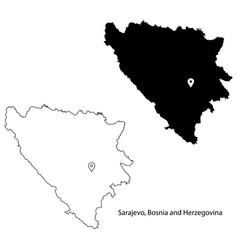 1029 sarajevo bosnia and herzegovina vector image