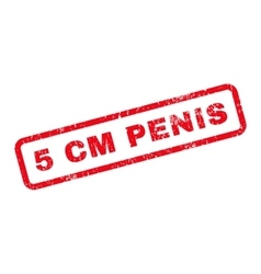 5 Cm Penis Text Rubber Stamp vector image