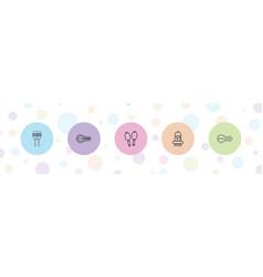 5 maracas icons vector