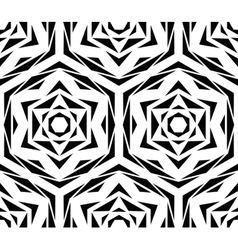 Abstract Black Flower Pattern vector image