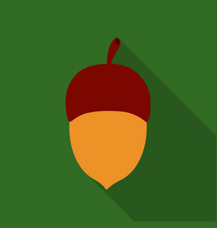 acorn icon in flat style for web vector image