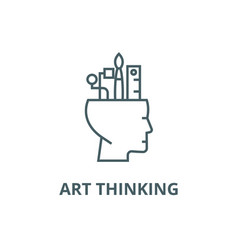 art thinking line icon art thinking vector image