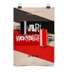 Art workshop template vector