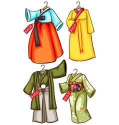 Asian outfits vector image