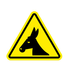 Attention donkey driving jackass on yellow vector