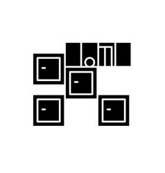 bathroom furniture black icon sign on vector image