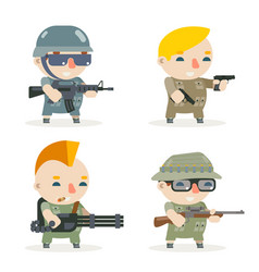 Battle war rpg game soldier heroes gunman rifleman vector