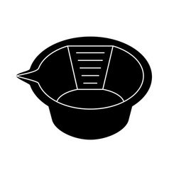 Black and white hair dye mixing bowl vector