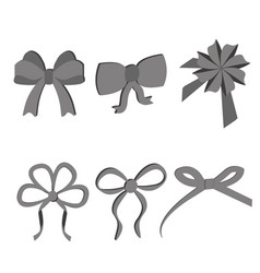 black grey bows vector image