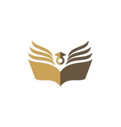 Book knowledge university logo vector