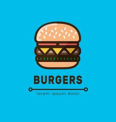 burger logotype templat vector image