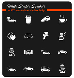 Car wash simply icons vector