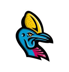 Cassowary head mascot vector