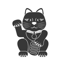 Cat icon Japan culture graphic vector