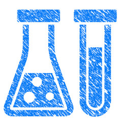 chemistry grunge icon vector image