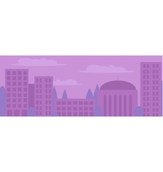 City landscape in light purple colors vector