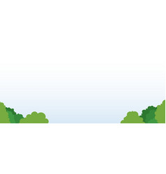 cloudscape in park area icon flat isolated vector image