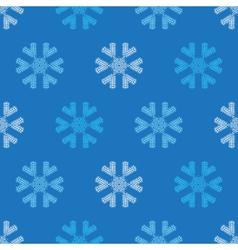 Crochet snowflakes seamless pattern vector