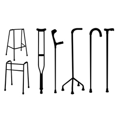 Crutches vector