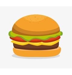 Delicious hamburger fast food vector