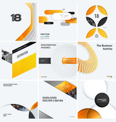 design set of yellow colourful abstract vector image