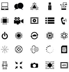 digital icon set vector image
