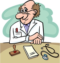 doctor in clinic cartoon vector image