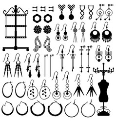 Earring jewelry female girl woman accessories vector