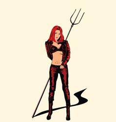 evil girl vector image