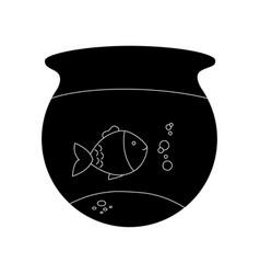 Fish aquarium pet isolated icon vector
