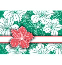 Floral background with banner vector image