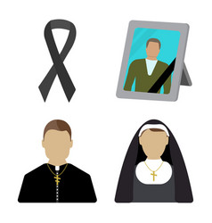 Funeral cartoon icon isolated vector