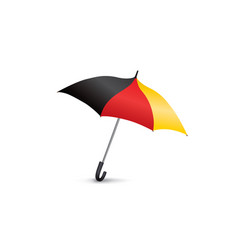 german flag colored umbrella season fashion vector image