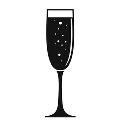 glass champagne icon simple style vector image