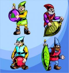 Gnomes vector
