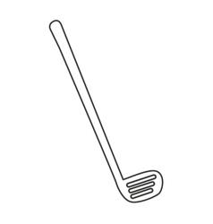 Golf club equipment icon vector