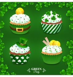 Green party set vector image