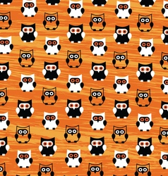 Halloween Owls Pattern vector