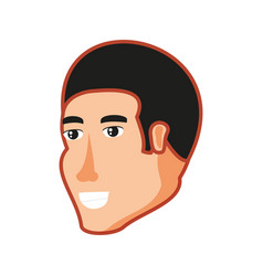 head of young man avatar character vector image